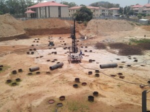 Piling in Progress at a Site Location